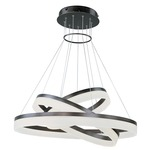 Saturn LED Multi Tier Pendant - Bronze / Frosted