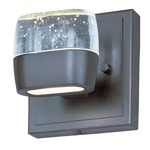 Volt LED Bath Bar - Bronze / Etched Bubble