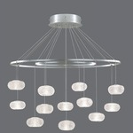 Natural Inspirations Concentric Ovals Chandelier