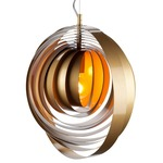 Orba Pendant - Chrome / Gold