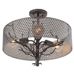 Treefold 3 Light Semi Flush Ceiling