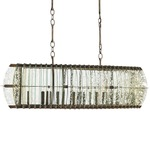 Zanzibar Rectangle Chandelier - Bronze Gold / Raj Mirror
