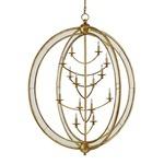 Aphrodite Chandelier - Gold Granello / Antique Mirror