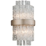 Chime Wall Light - Silver Leaf / Clear