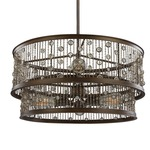 Colorado Springs Two Tier Drum Pendant with Edison Bulbs