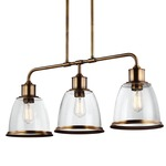 Hobson Linear Chandelier with Vintage-Style Bulb
