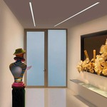 Reveal Wall Wash 10W Plaster-In System - Satin Aluminum