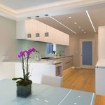 Reveal Wall Wash 5W Plaster-In System - Satin Aluminum