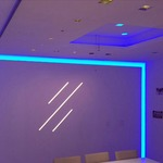 Verge Wall 6W RGB/White Plaster-In System - Satin Aluminum