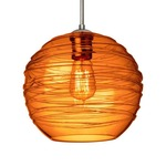 Wave Dome Canopy Edison Pendant