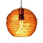 Wave Dome Canopy Compact Fluorescent Pendant