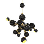 Atomic Suspension - Gold / Glossy Black