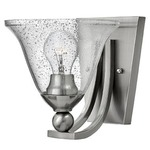 Bolla 4650 Wall Light - Brushed Nickel / Clear Seedy /