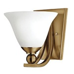 Bolla 4650 Wall Light - Brushed Bronze / Opal /