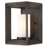 Smyth Wall Light - Gunmetal Bronze / Opal