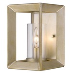 Smyth Wall Light - White Gold / Clear