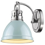 Duncan Wall Light - Chrome / Seafoam