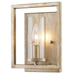 Marco Wall Sconce - White Gold /