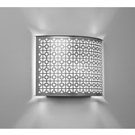 Clarus Rounded Geometric Cutout Wall Light - Chrome / Opal