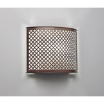 Clarus Rounded Quatrefoil Cutout Wall Light - Cast Bronze / Opal