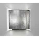 Clarus Rounded Square Cutout Wall Light - Chrome / Opal