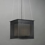 Clarus Square Shade Square Cutout Pendant - Black / Opal