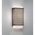 Clarus Squared Geometric Cutout Wall Light - Black / Opal