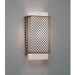 Clarus Squared Quatrefoil Cutout Wall Light - Cast Bronze / Opal