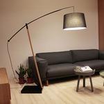 Archer Floor Lamp - Beech Wood / Black
