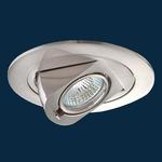 R4-497 4 Inch Round Adjustable Drop Trim - Brushed Nickel /