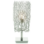 Hollywood Block Table Lamp - Nickel /