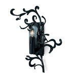 Flower Power Right Wall Sconce - Black /