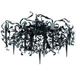 Flower Power Ceiling Flush Mount - Black /