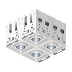 Modul-Aim Square Non-IC Remodel Housing - Matte White