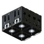 Modul-Aim Square Crisp White Non-IC Remodel Housing - Matte Black