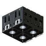 Modul-Aim Square Warm Dim Non-IC Remodel Housing - Matte Black