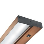 ULH Pro-Series Halogen 1-Lamp Undercabinet Light - Brushed Bronze / Clear