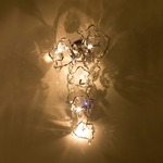 Tiara Long Wall Sconce - Stainless Steel / Crystal