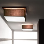 Natura Ceiling Flush Mount - Walnut / Natural