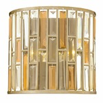 Gemma Wall Light - Silver Leaf / Crystal