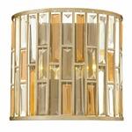 Gemma Wall Light - Silver Leaf / Crystal