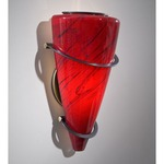 2969 Wall Light - Hand Brushed Old Bronze / Magma Red