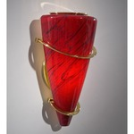 2969 Wall Light - Polished Brass / Magma Red