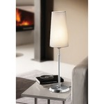 Illuminator 6263 Table Lamp - Satin Nickel / Satin White