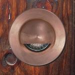 12V Step Lite Round Eyelid Halogen Step Light - Copper