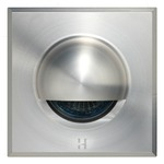 12V Step Lite Square Eyelid Halogen Step Light - Stainless Steel