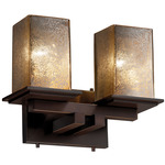 Montana Two Light Square Bath Bar - Dark Bronze / Mercury
