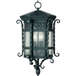 Scottsdale Outdoor Pendant - Country Forge / Seedy Glass