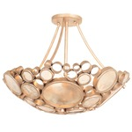 Fascination Semi Flush Ceiling Light - Zen Gold /