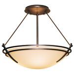 Presidio Tryne Semi Flush Ceiling Light - Bronze / Opal